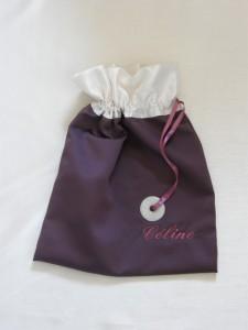 Sac pour patins de danse violet ivoire